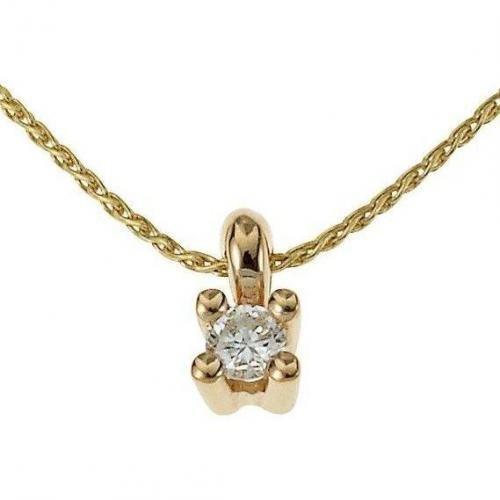 Fabian Diamant-Anhänger m. Kette Gold 333