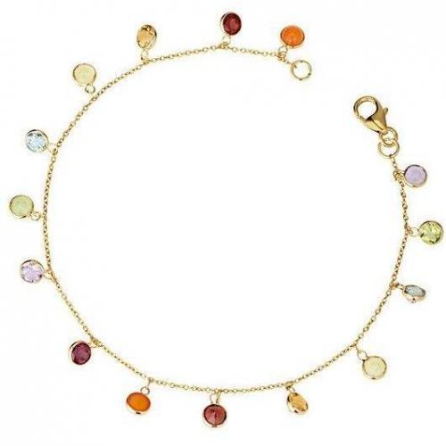 Fabiani Armband Gold 375 Amethyst Blautopas Granat