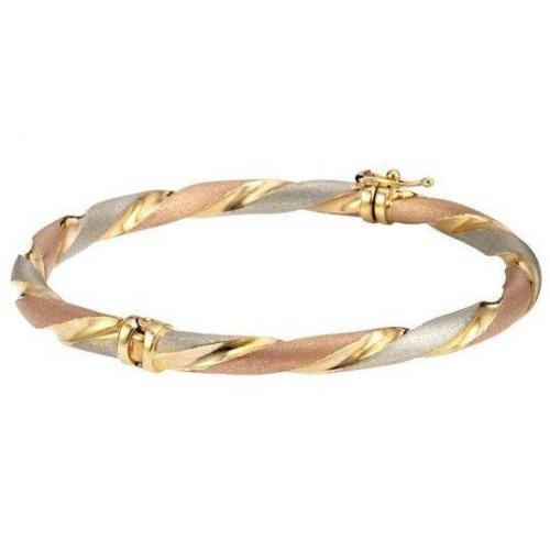 Fabiani Armreif Gold 375 Tricolor