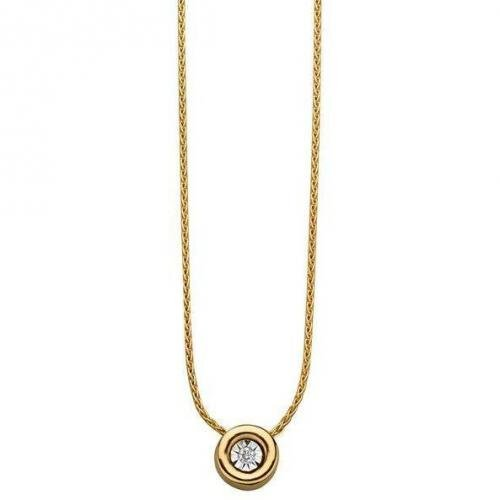 Fabiani Diamant-Anhänger mit Kette Gold 333