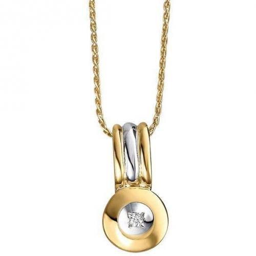 Fabiani Diamant-Anhänger mit Kette Gold 585