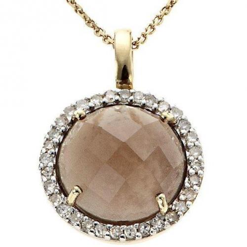 Fabiani Diamant-Kette Gold 333 Rauchquarz