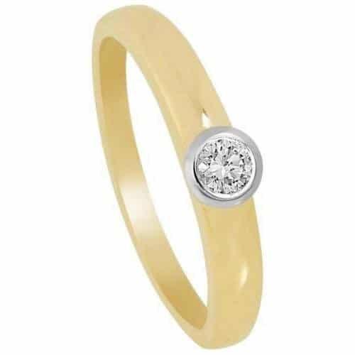 Fabiani Diamant Ring Gelbgold/Weissgold 585