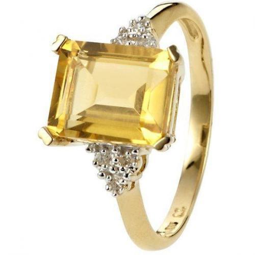Fabiani Diamant-Ring Gold 333 Citrin