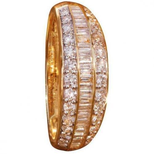 Fabiani Diamant-Ring Trapez Gold 585