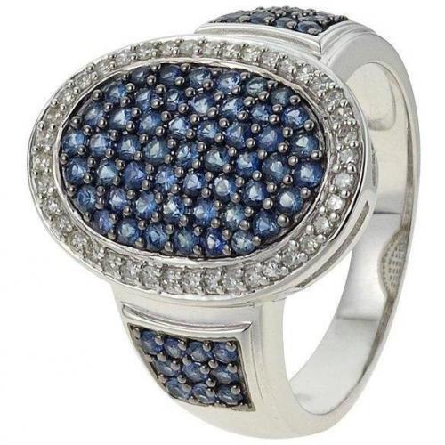 Fabiani Diamant-Ring Weissgold 585 Saphir
