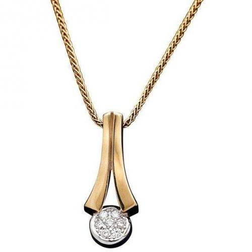 Fabiani Kette mit Diamant-Anhänger Gold 333
