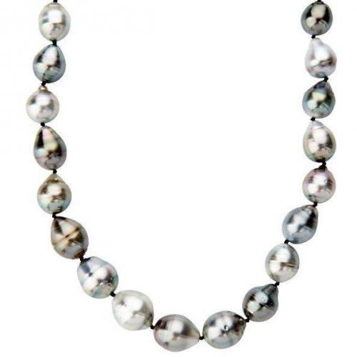 Fabiani Perlen-Collier Sterling Silber 925 Tahiti-Zuchtperle