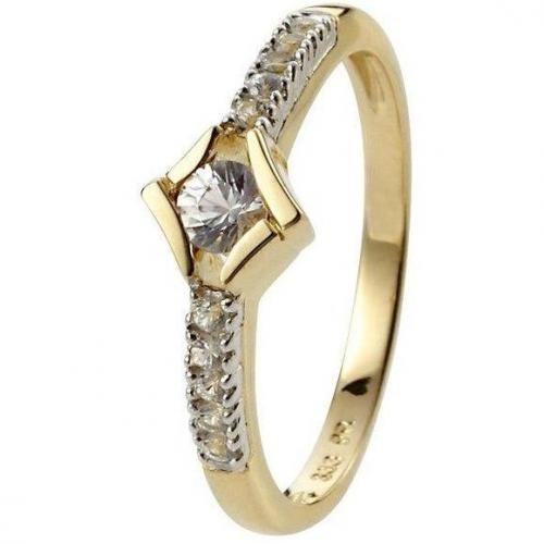 Fabiani Ring Gold 333 Saphir