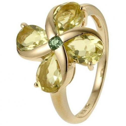 Fabiani Ring Gold 585 mit Lemon Quarz