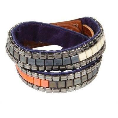 Fiona Paxton Doppel Wickel-Armband Nietenbesatz
