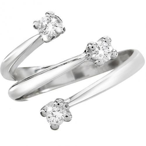 Forzieri Princess Ring aus 18k Weißgold mit Diamanten 0.215k