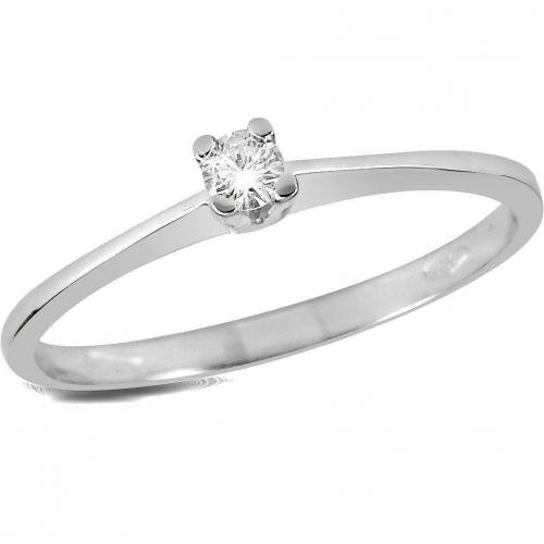 Forzieri Princess Solitaire Ring mit Diamanten Prong-Set