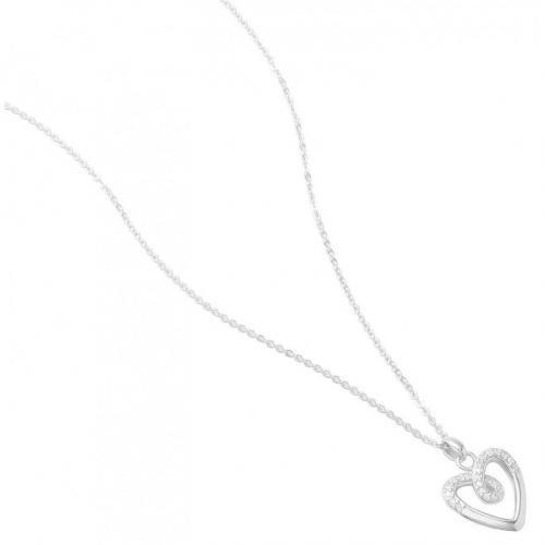 Fossil Damen-Halskette mit Herz-Anhänger