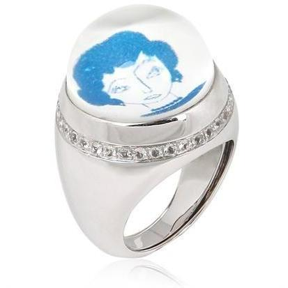 Francesca Villa Puppen & Ladies Ring blau