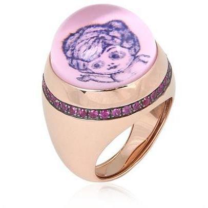 Francesca Villa Puppen & Ladies Ring flieder