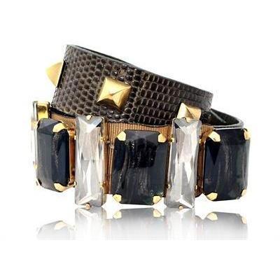 Gedebe Bijoux Eidechsen Bedrucktes Leder Armband