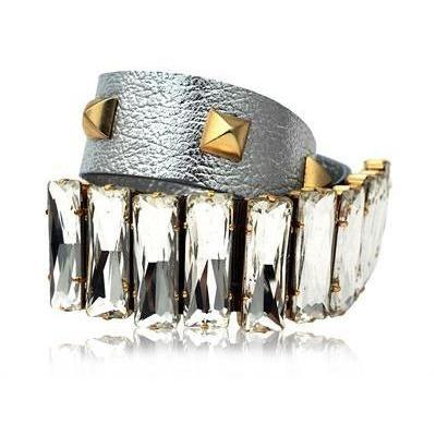 Gedebe Bijoux Nieten Laminiertes Leder Armband