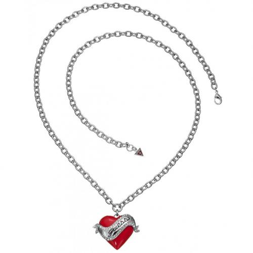 Guess Damen-Halskette rotes Herz