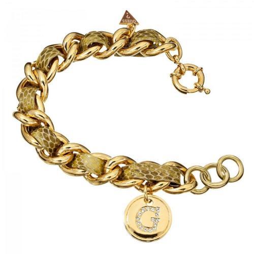 Guess Damenarmband Gold Guess-Logo