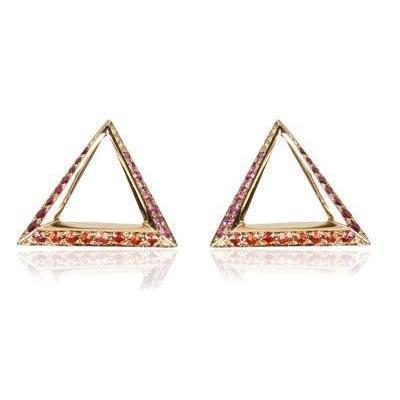 Hannah Martin Shaman'S Große Triangel Ohrringe