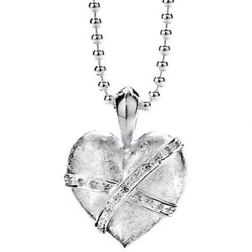 Heartbreaker Kette mit Anhänger Herz matt