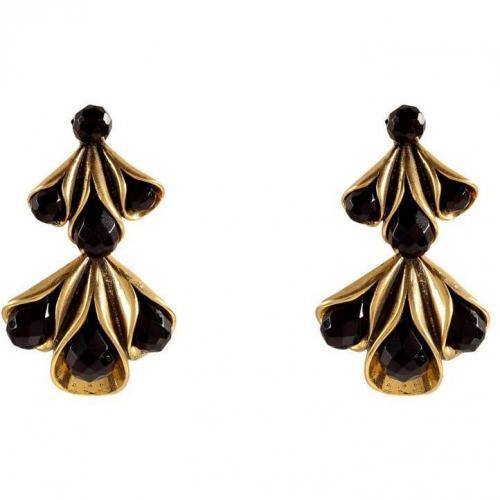 Hoss Intropia Black/Gold Sculptural Ohrringe