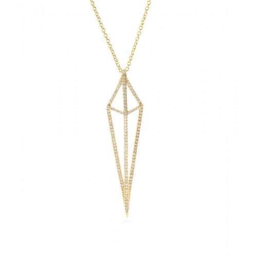 House of Waris Halskette Lantern aus 18kt Gold mit weißen Diamanten