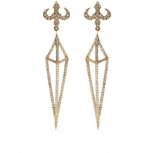 House of Waris Ohrringe Lantern aus 18kt Gold mit weißen Diamanten