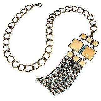 Ileana Creations Halskette mit Swarovski-Kristall & quadratischen Steinen