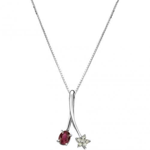 Incanto Royale Halskette aus 18k Gold mit Diamanten und Rubin