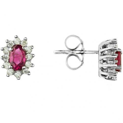 Incanto Royale Ohrringe aus 18k Gold mit Rubinen und Diamanten