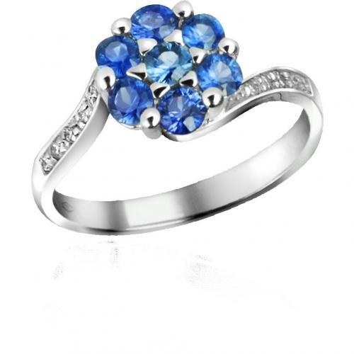 Incanto Royale Ring aus 18K Gold mit Saphiren und Diamant