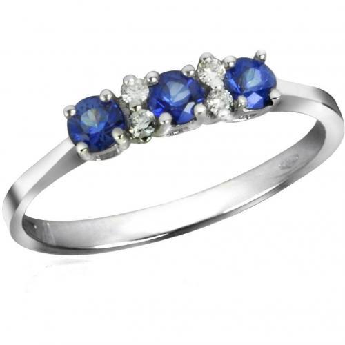 Incanto Royale Ring aus 18k Gold mit Saphiren und Diamanten Blau