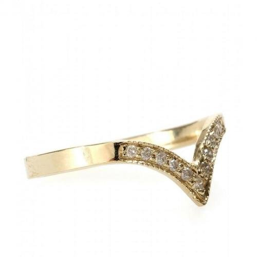 Jacquie Aiche Ring aus 14kt Gelbgold mit weißen Diamanten