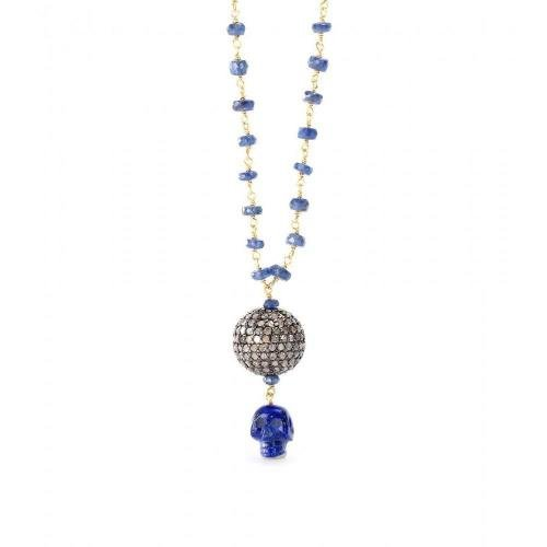 Jade Jagger Disco Halskette mit Saphiren und Diamanten