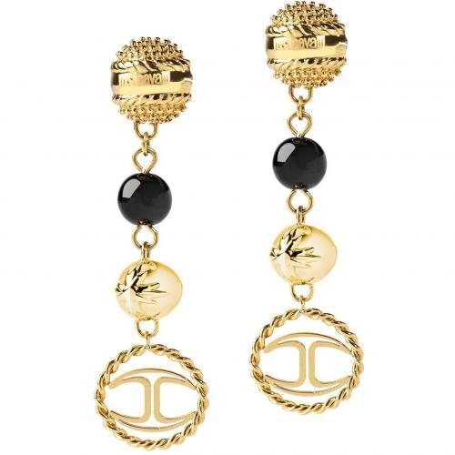 Just Cavalli Venus Damen-Ohrringe Gold Schwarz