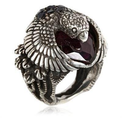 KD2024 Nauta Adler Amethyst und Onyx Ring