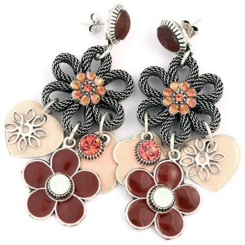 Les Gens Du Sud Damen-Ohrringe Blüten