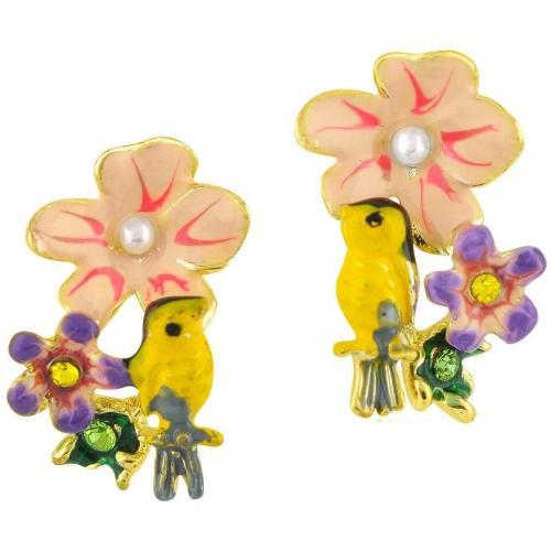 Les Nereides Alphabet Fleuri Vogel & Blume Ohrringe