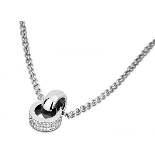 Lotus Damen-Halskette Silber