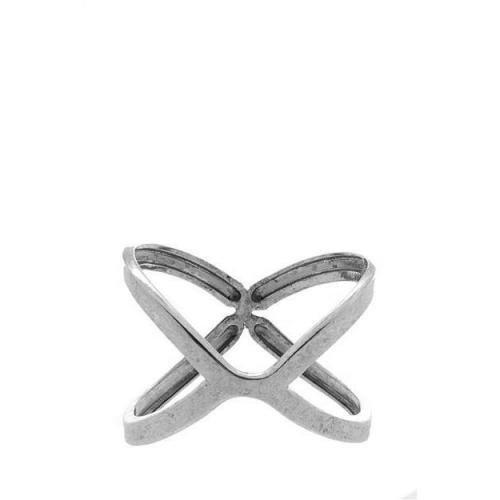 Low Luv Kreuz Armreif silver