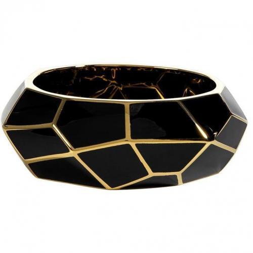 Lucas Jack Black Art Deco Gold Plated Armband
