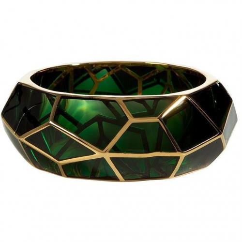 Lucas Jack Darkgreen Art Deco Gold Plated Armband