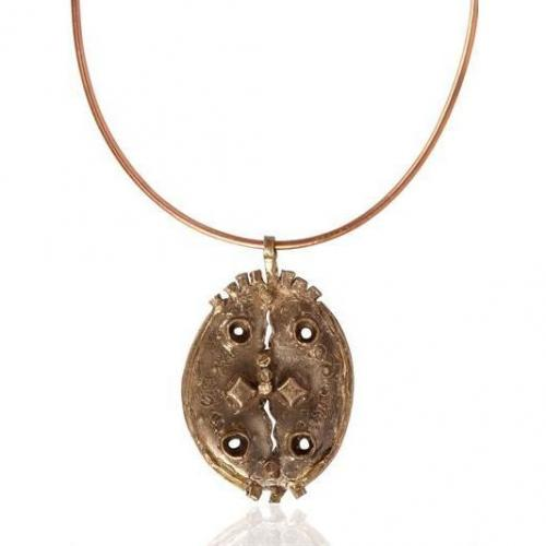 Maggie Maggi Scudo Hand Made Bronze Necklace