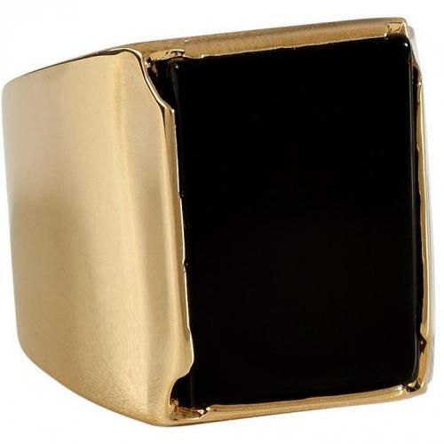 Maison Martin Margiela Gold-Toned Metal Tricolor Ring