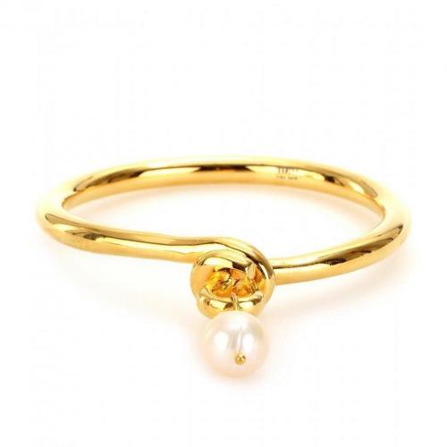 Makri for The Row Knot Armreif aus 950er Silber und Bronze Gelbgold-Vergoldet mit Perle