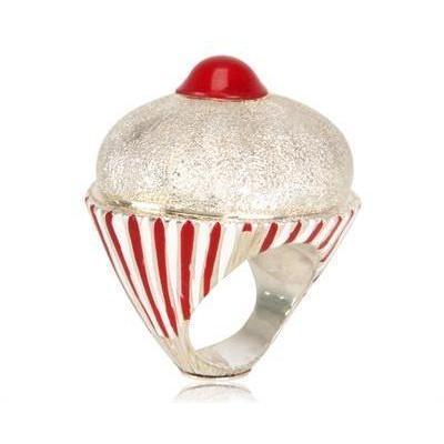 Marina Calamai Kirsch Ring weiß