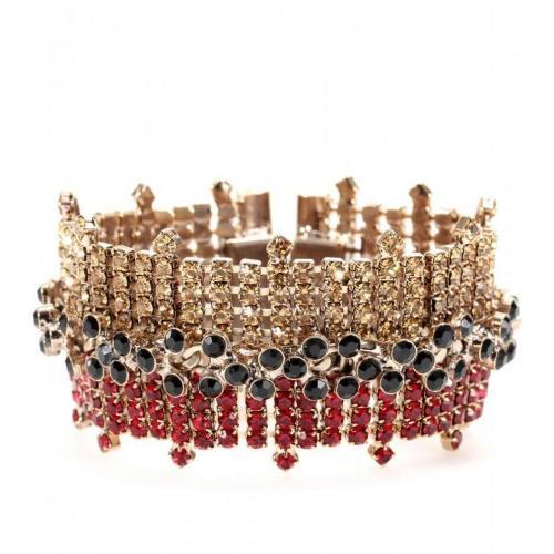 Marni Kristall-Armband Rot und Schwarz