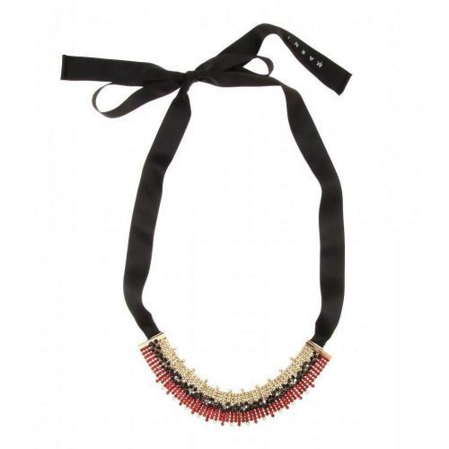 Marni Kristall-Halskette Rot